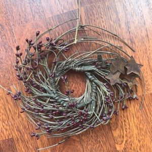 Other - Country wreath with metal stars